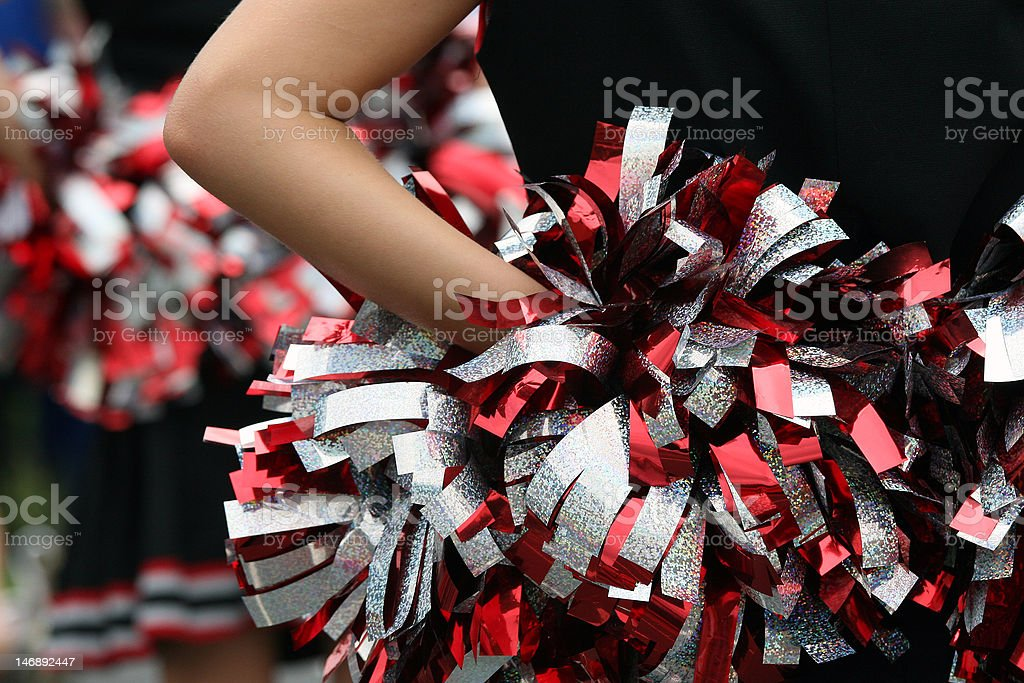 Young cheerleader stock photo