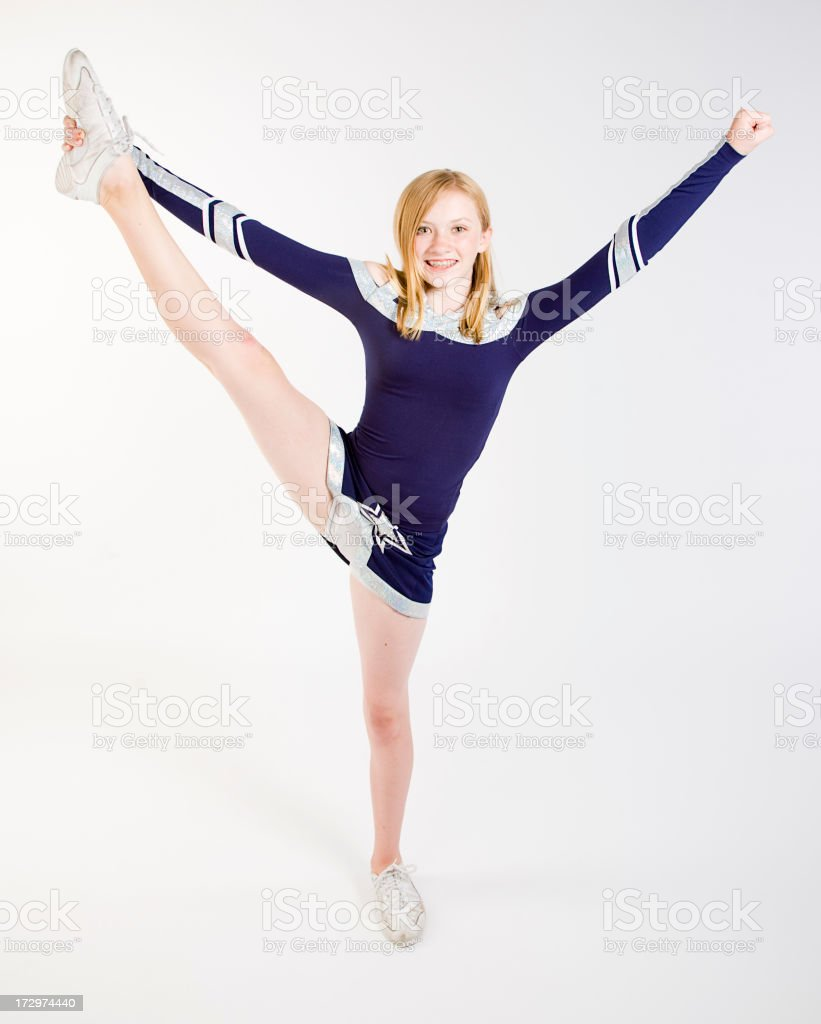 Young Cheerleader royalty-free stock photo