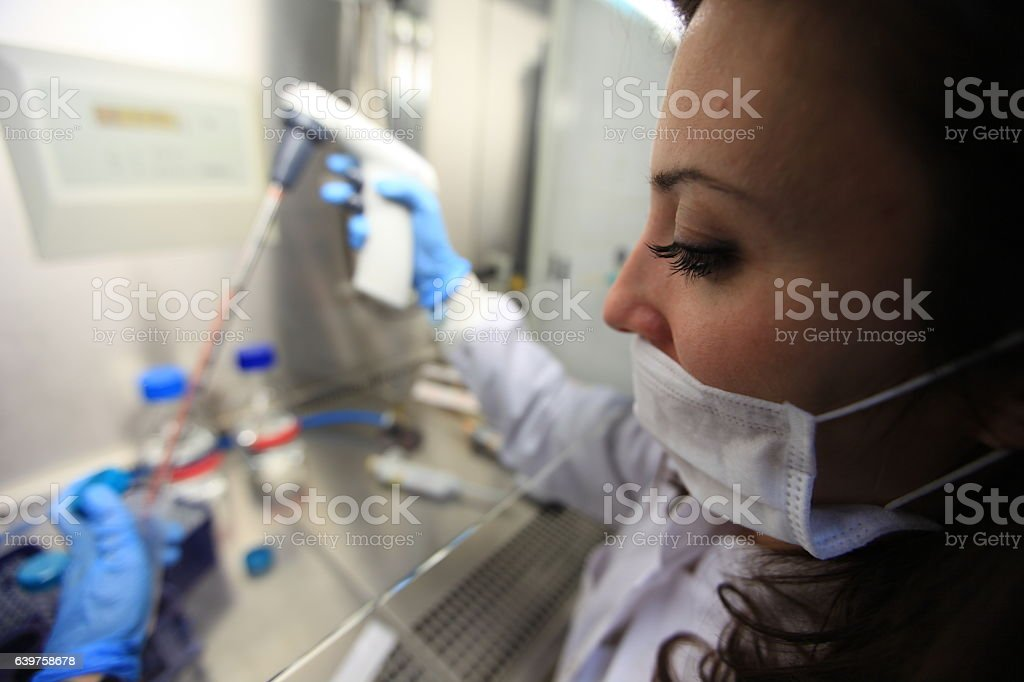 young chemist in lab stock photo