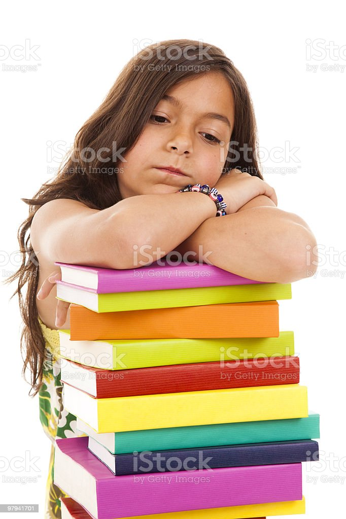 young child going to school royalty-free stock photo
