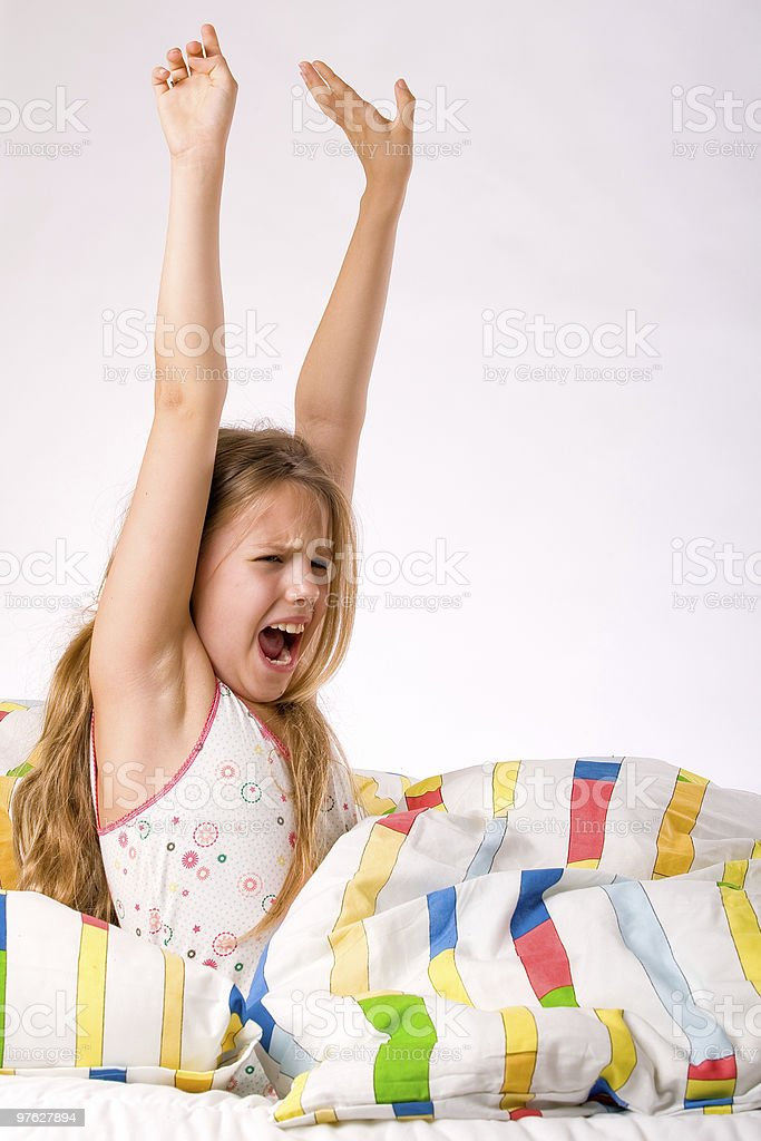 Young child is stretching royalty-free stock photo