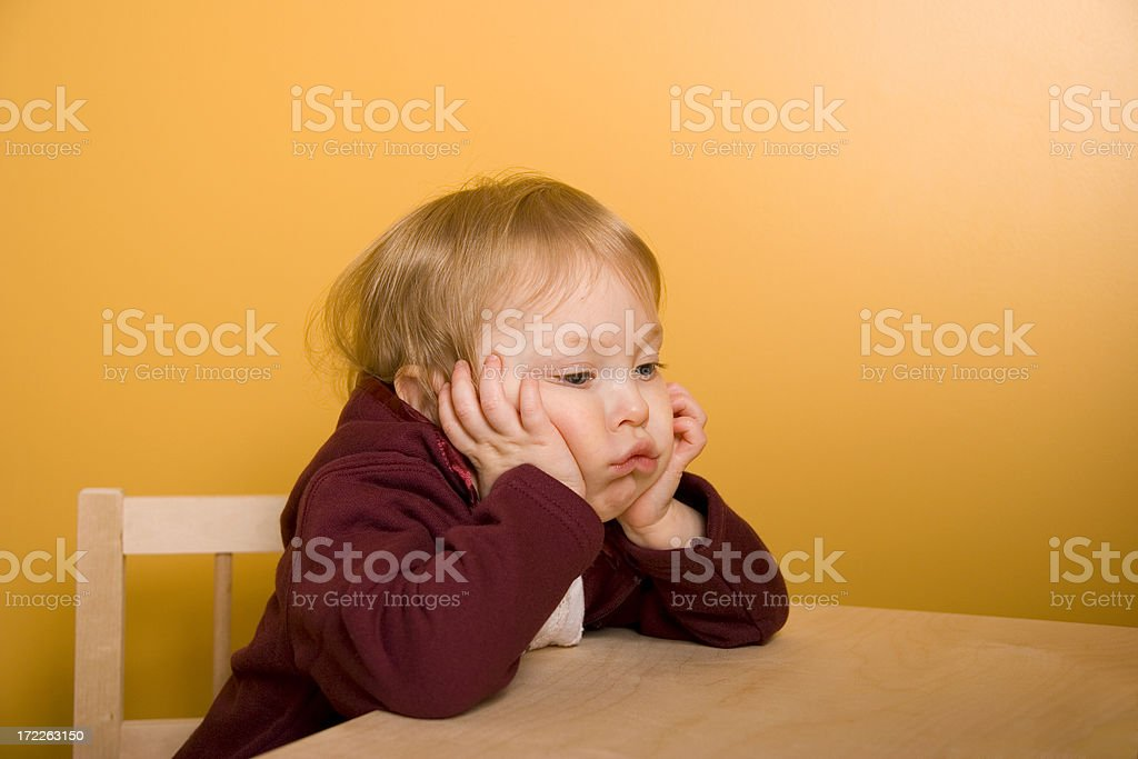 Young Child Looking Bored royalty-free stock photo