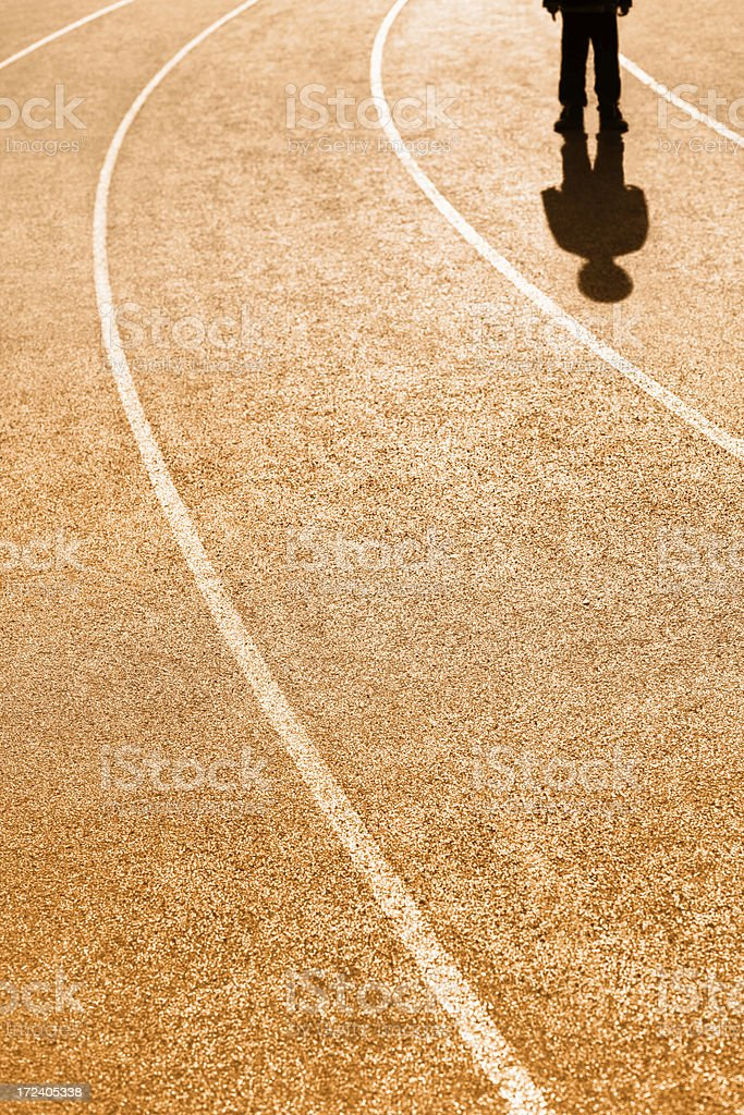 Young Child on a Running Track royalty-free stock photo