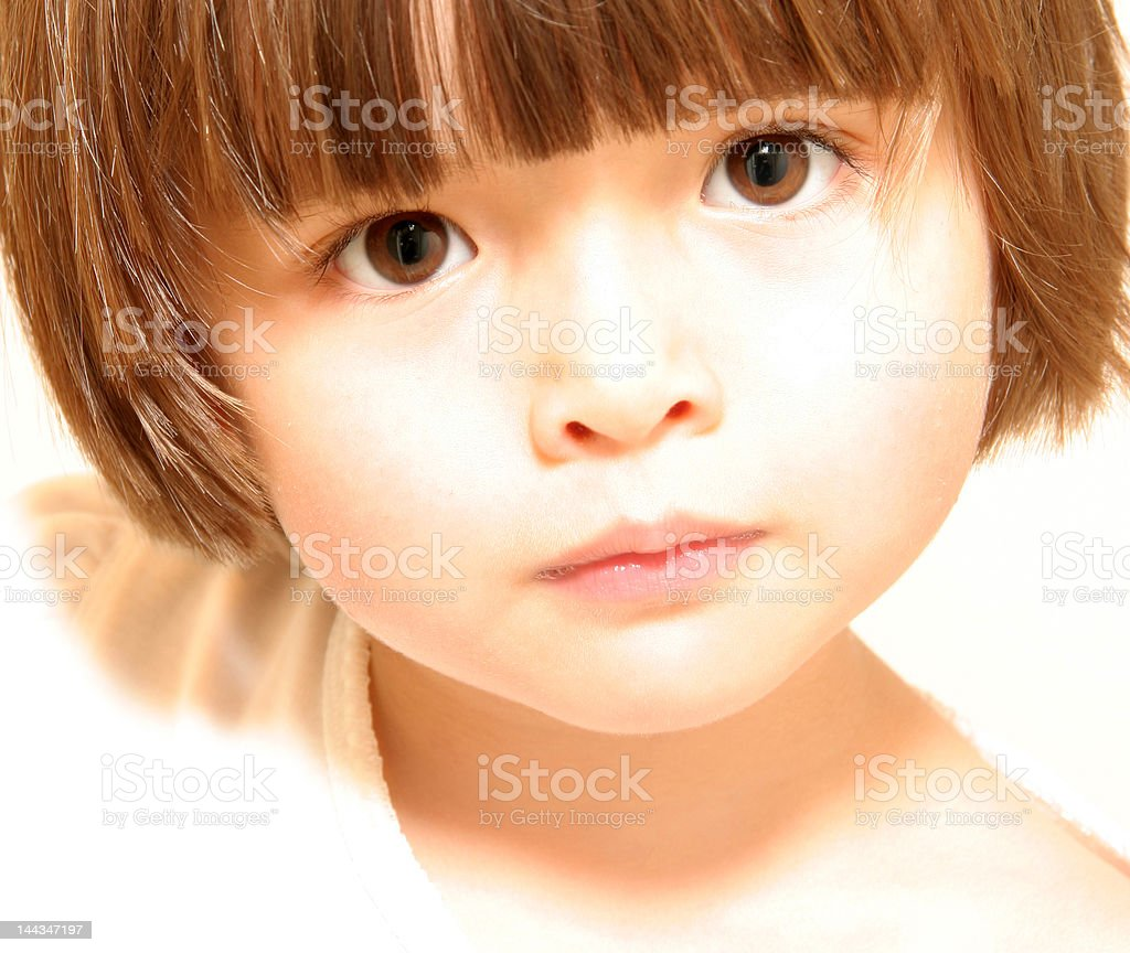 Young child with attentive look royalty-free stock photo