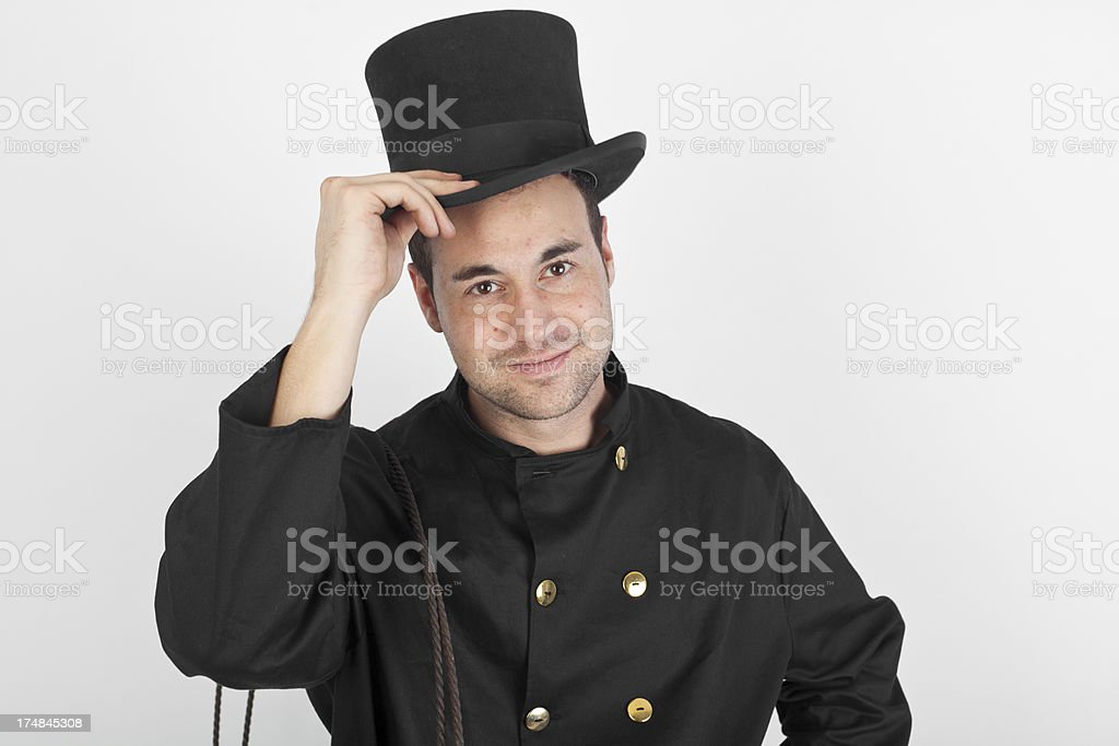 Young chimney sweep stock photo