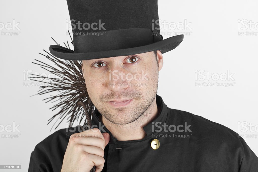 Young chimney sweep royalty-free stock photo