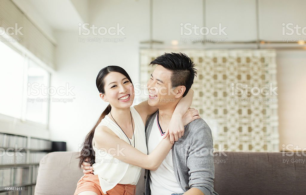 Young Chinese Couple stock photo