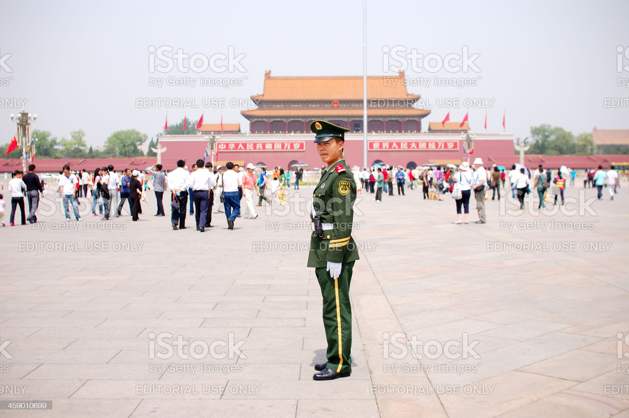 Young Chinese soldier portrait royalty-free stock photo