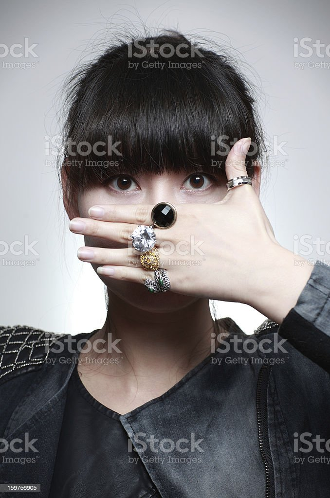 Young Chinese woman royalty-free stock photo