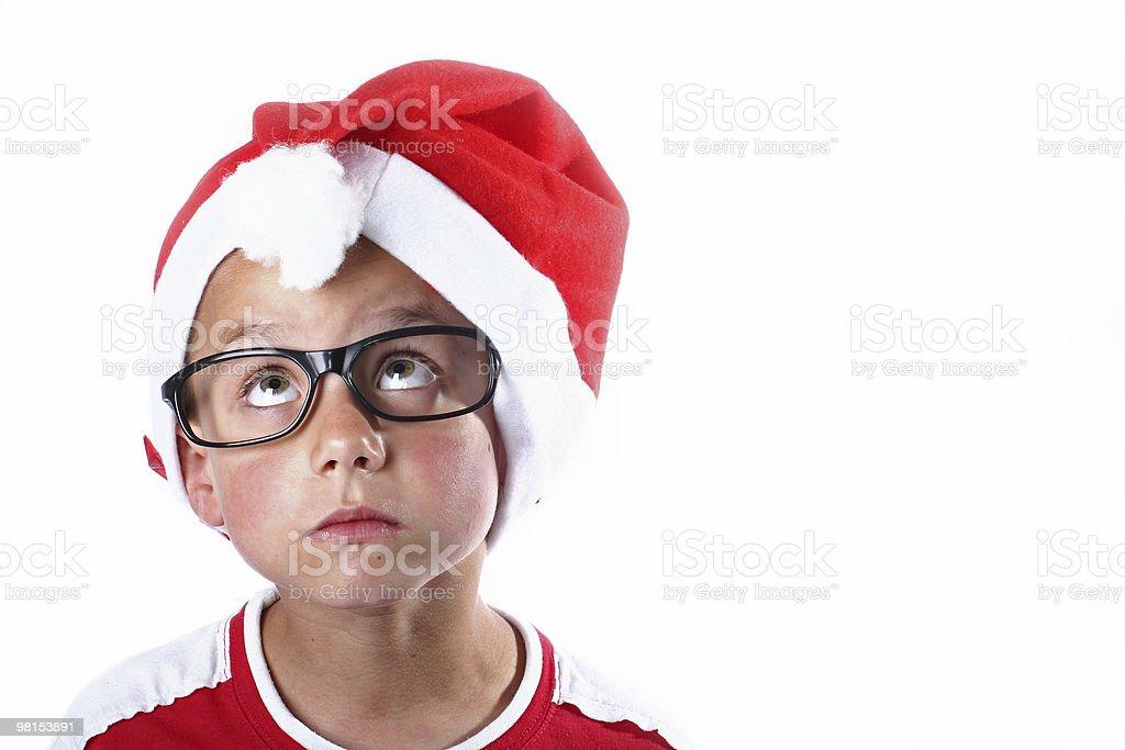 Young christmas boy stock photo