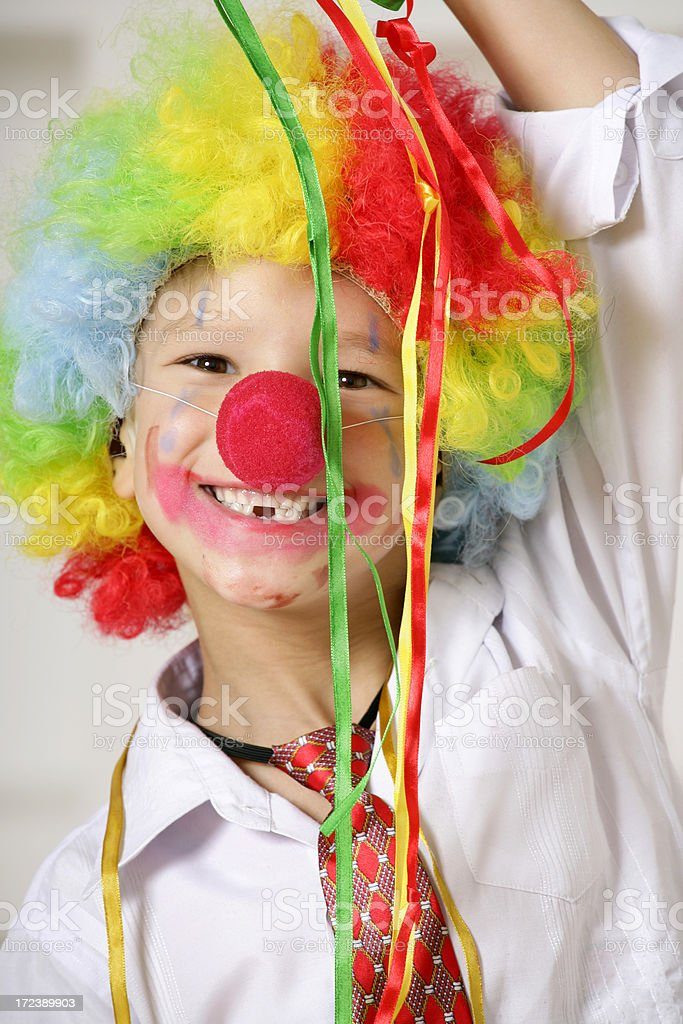 Young clown royalty-free stock photo