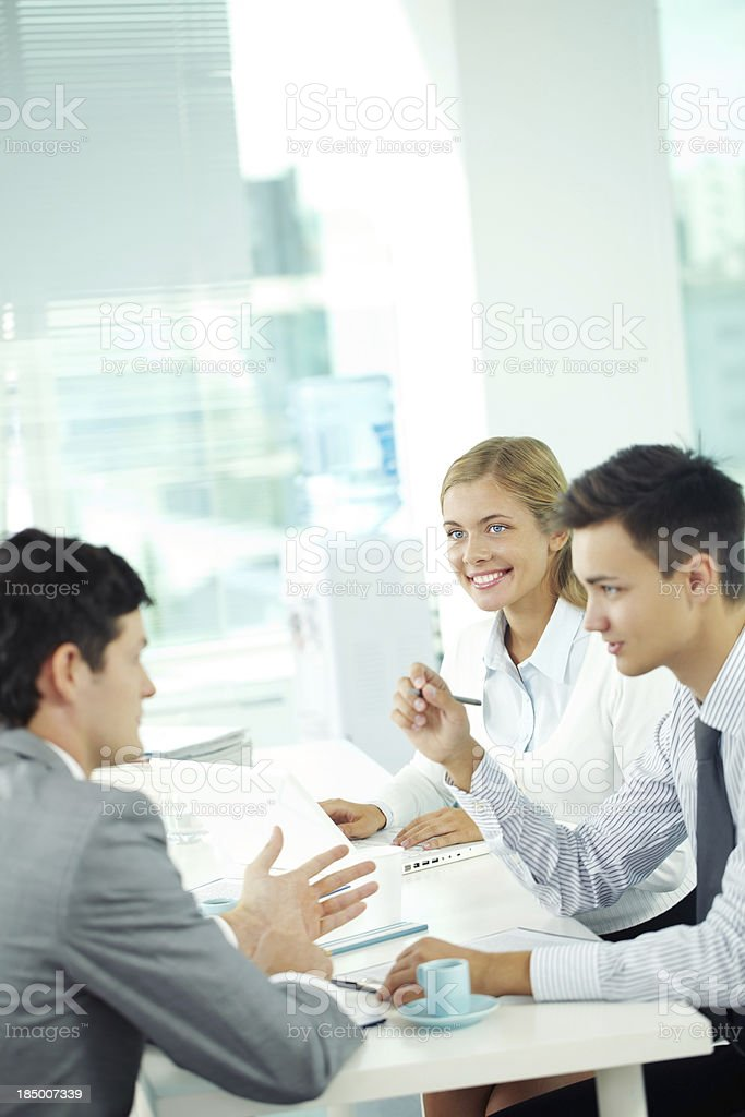 Young colleagues royalty-free stock photo