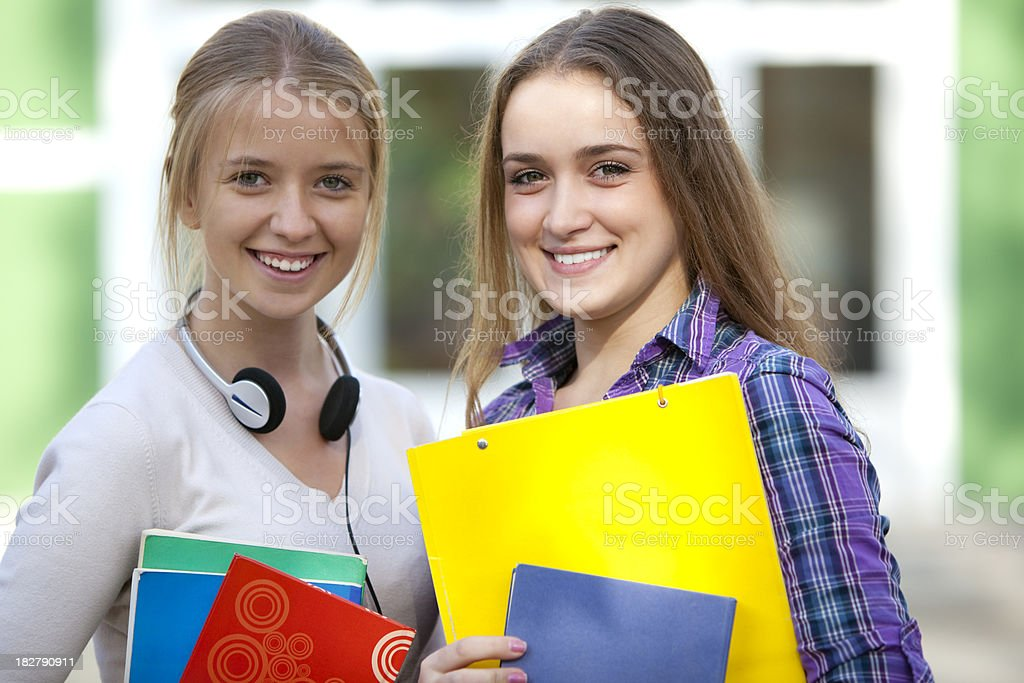 Young college female students royalty-free stock photo