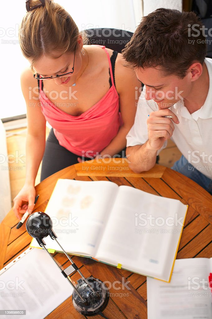 Young College Students - Study group royalty-free stock photo