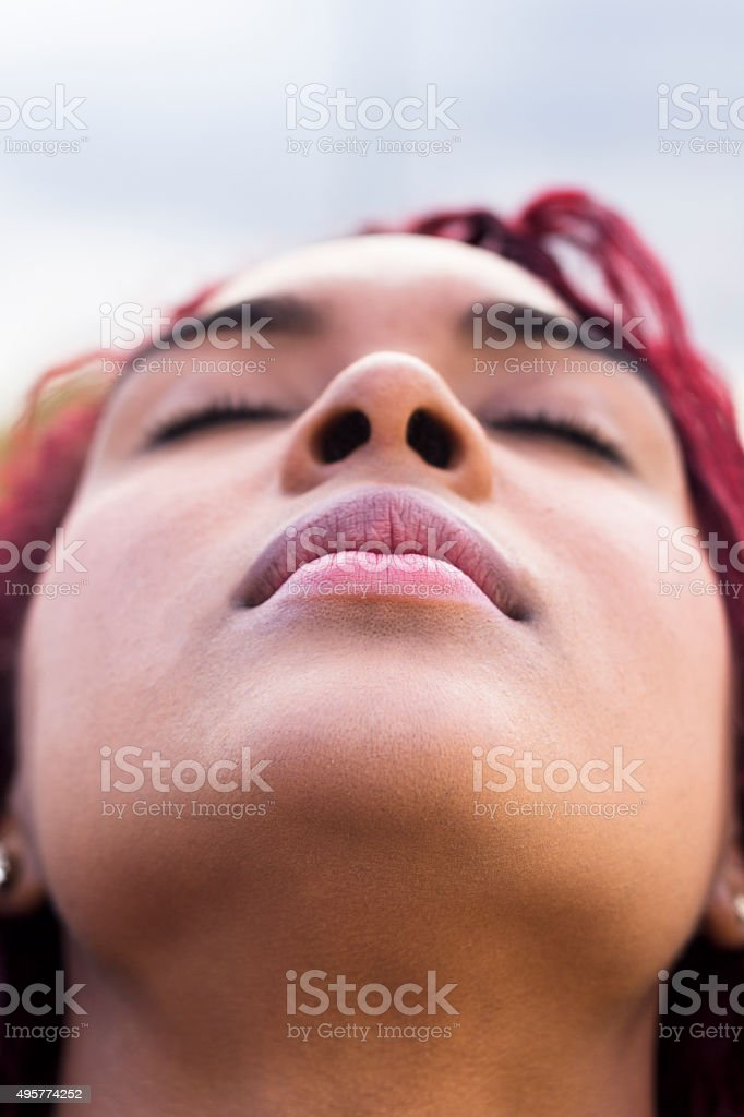 Young Colombian woman stock photo