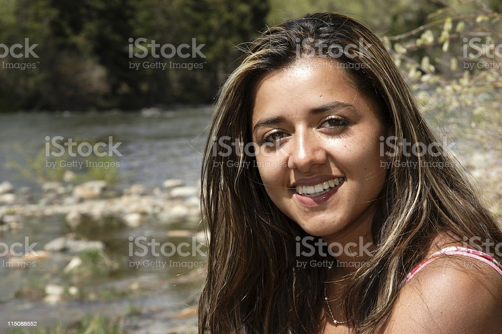 young colombian woman portrait royalty-free stock photo