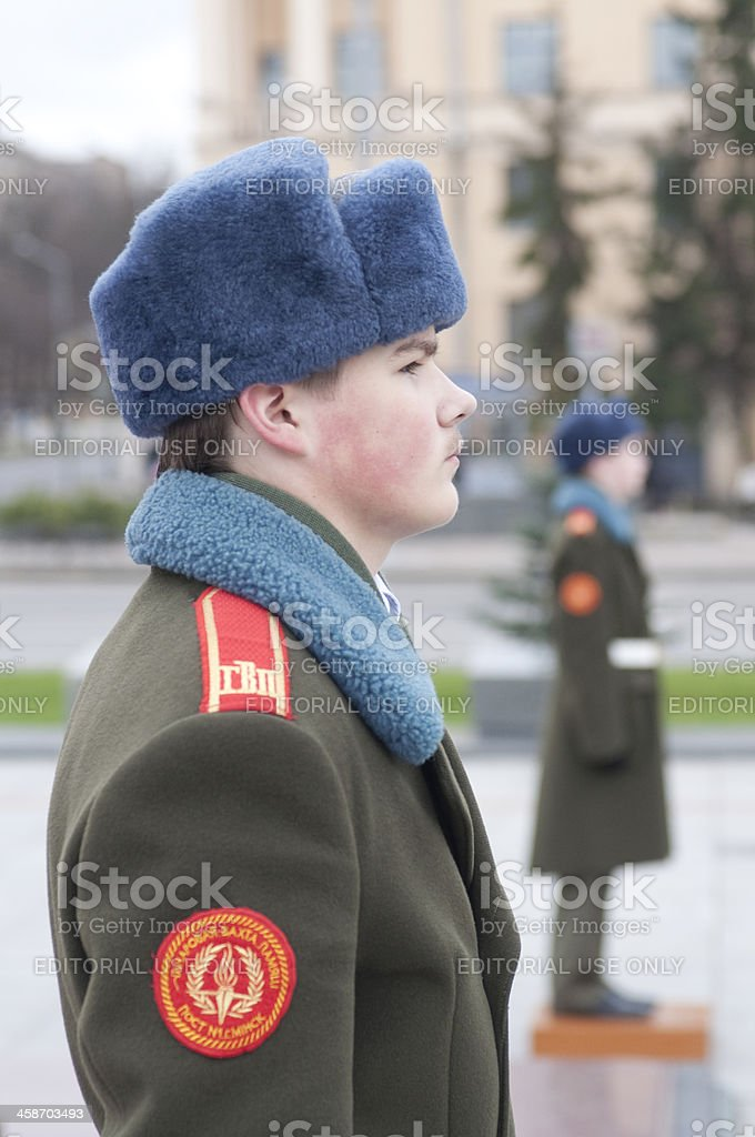 Young Communist Soldiers royalty-free stock photo