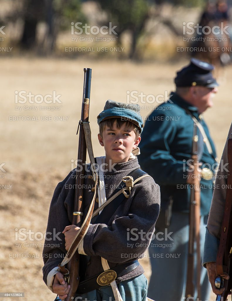 Young Confederate Soldier stock photo