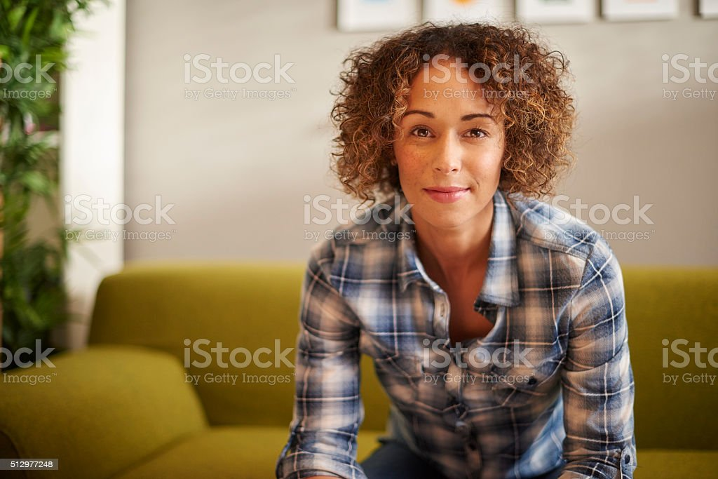 young confident casual woman stock photo