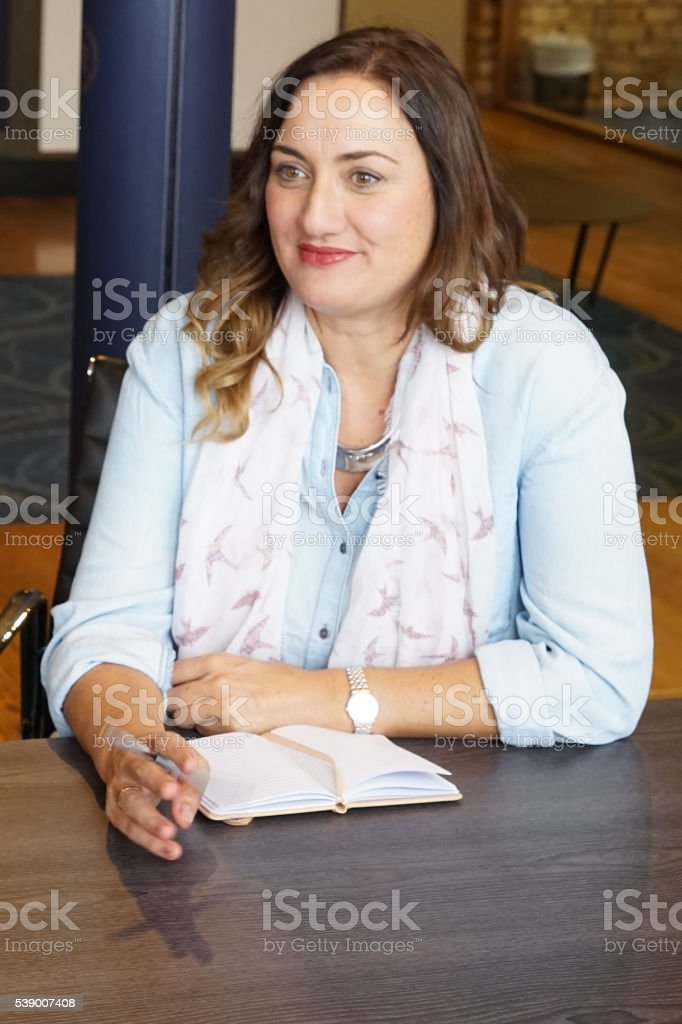 Young confident NZ bussiness woman stock photo