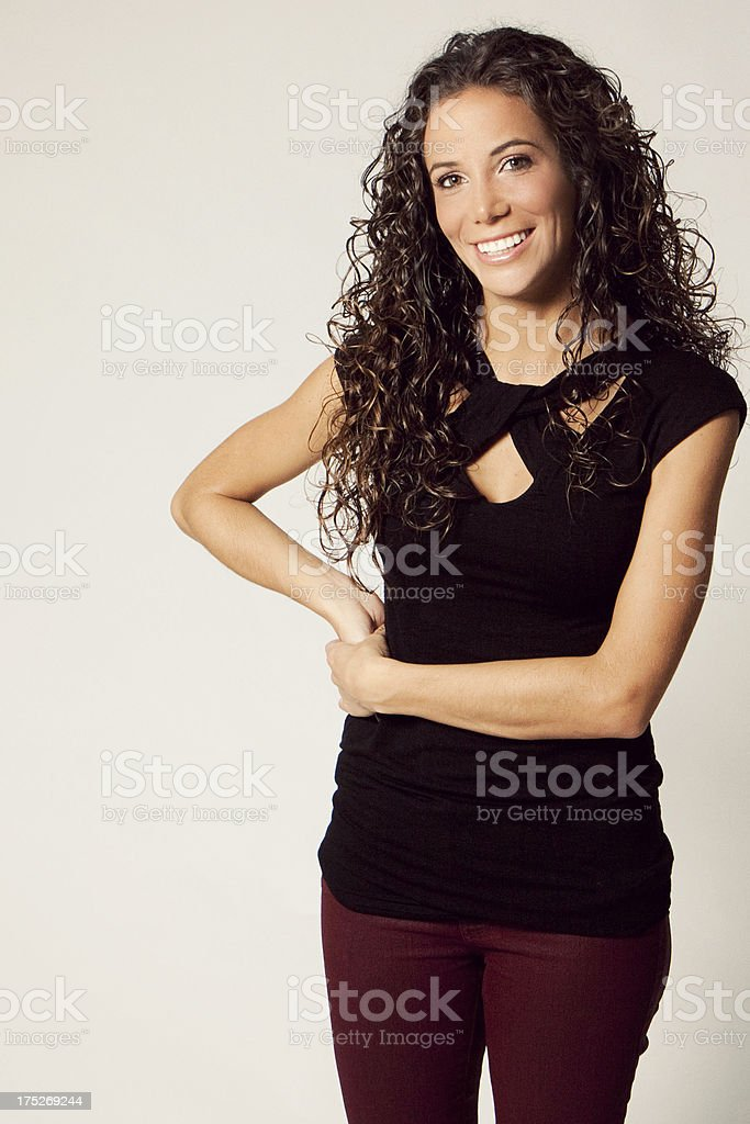 Young confident woman royalty-free stock photo