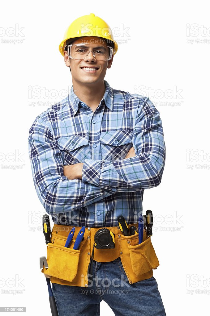 Young Construction Worker - Isolated stock photo