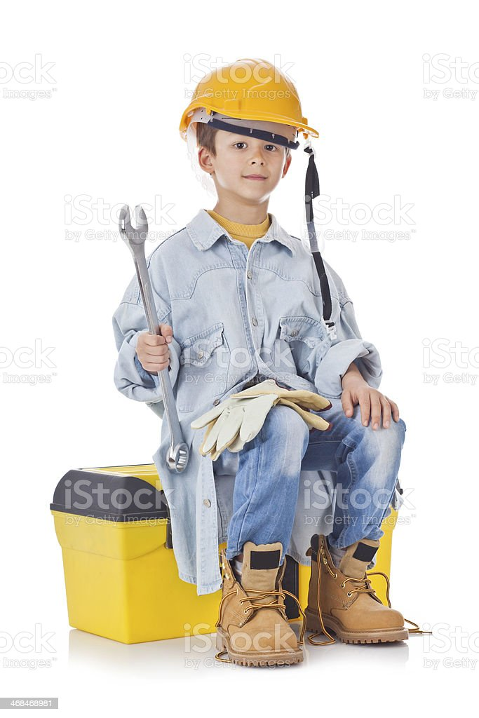 Young Construction Worker stock photo