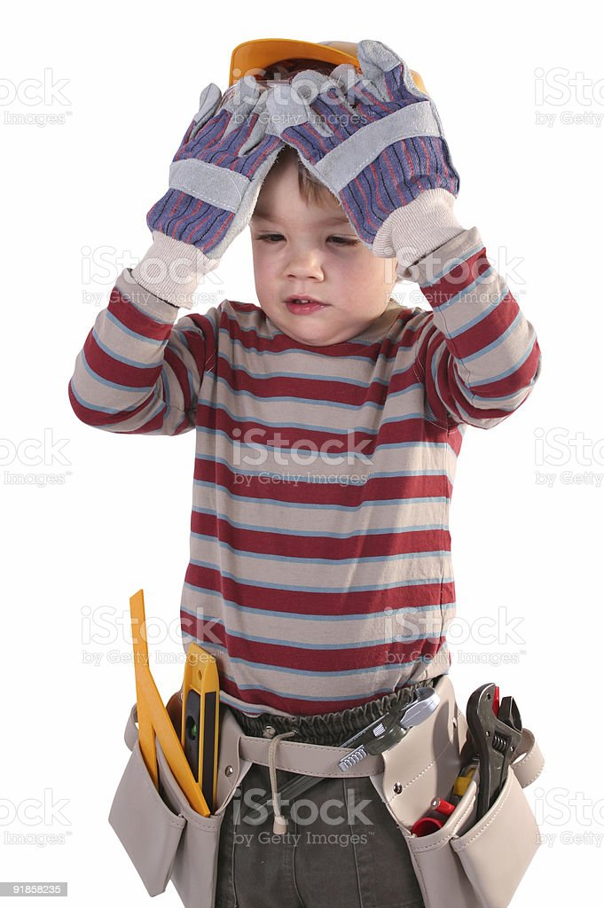 young construction worker royalty-free stock photo