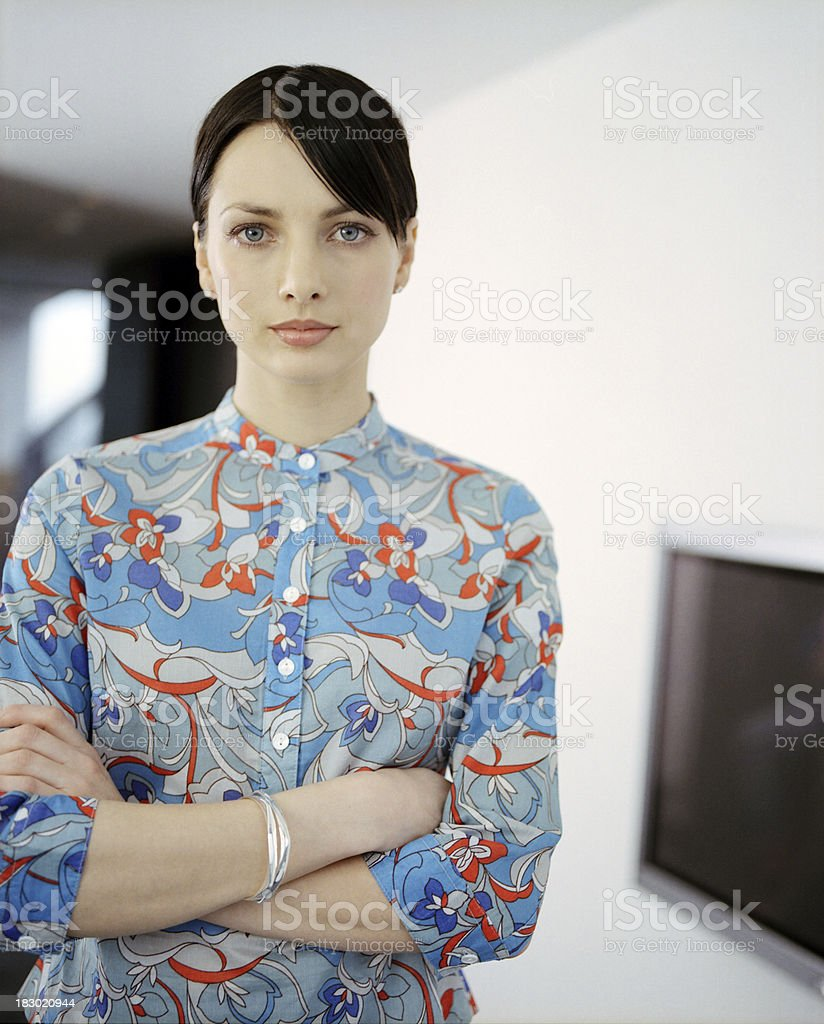 Young contemporary Businesswoman designer looking to camera royalty-free stock photo