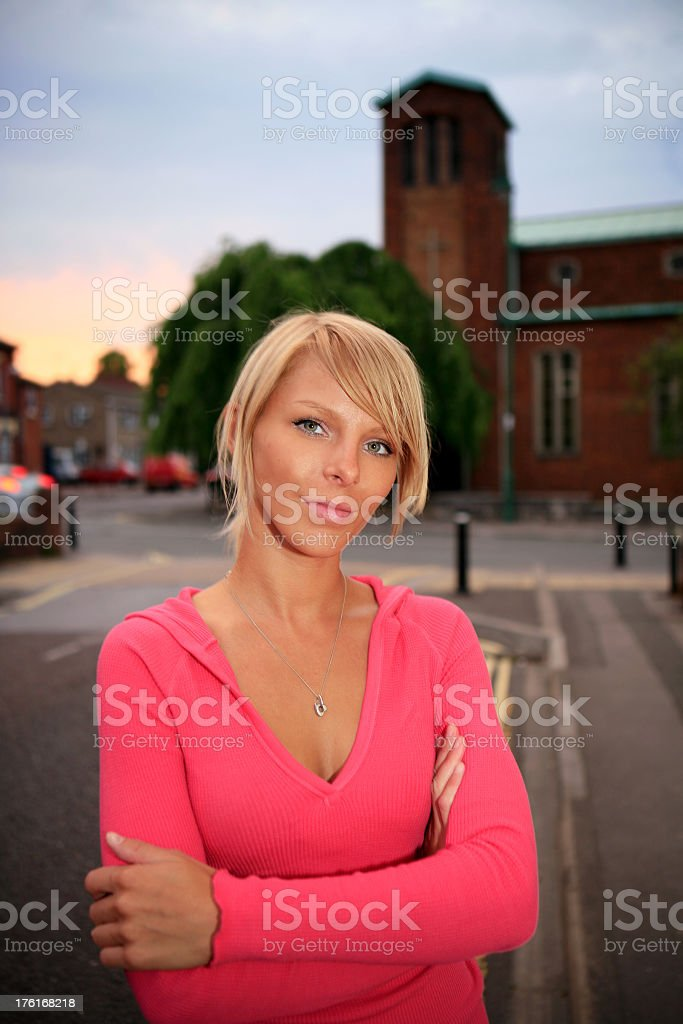 Young content female royalty-free stock photo