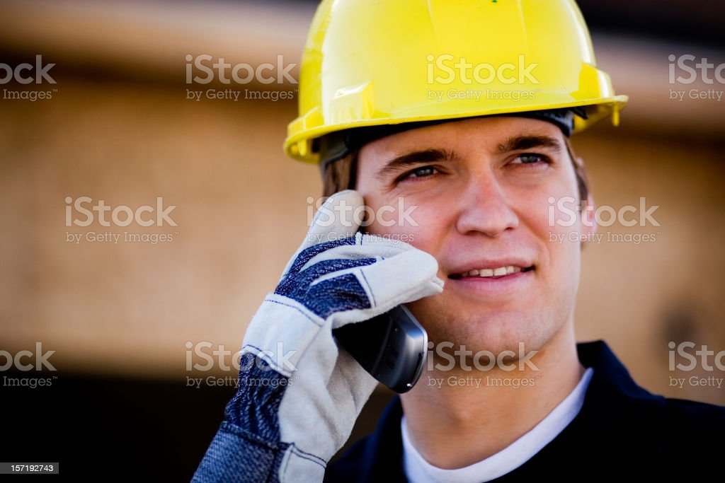 Young Contractor royalty-free stock photo