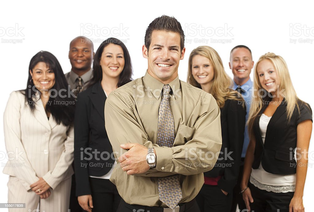 Young Corporate Team Portrait stock photo