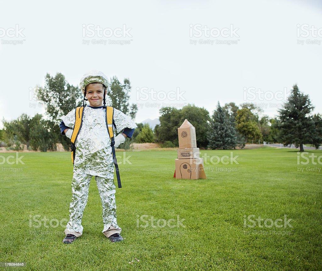 Young Cosmonaut stock photo
