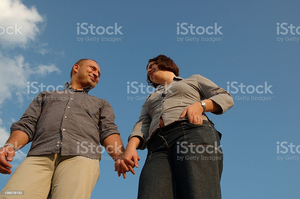 Young couple 2 royalty-free stock photo