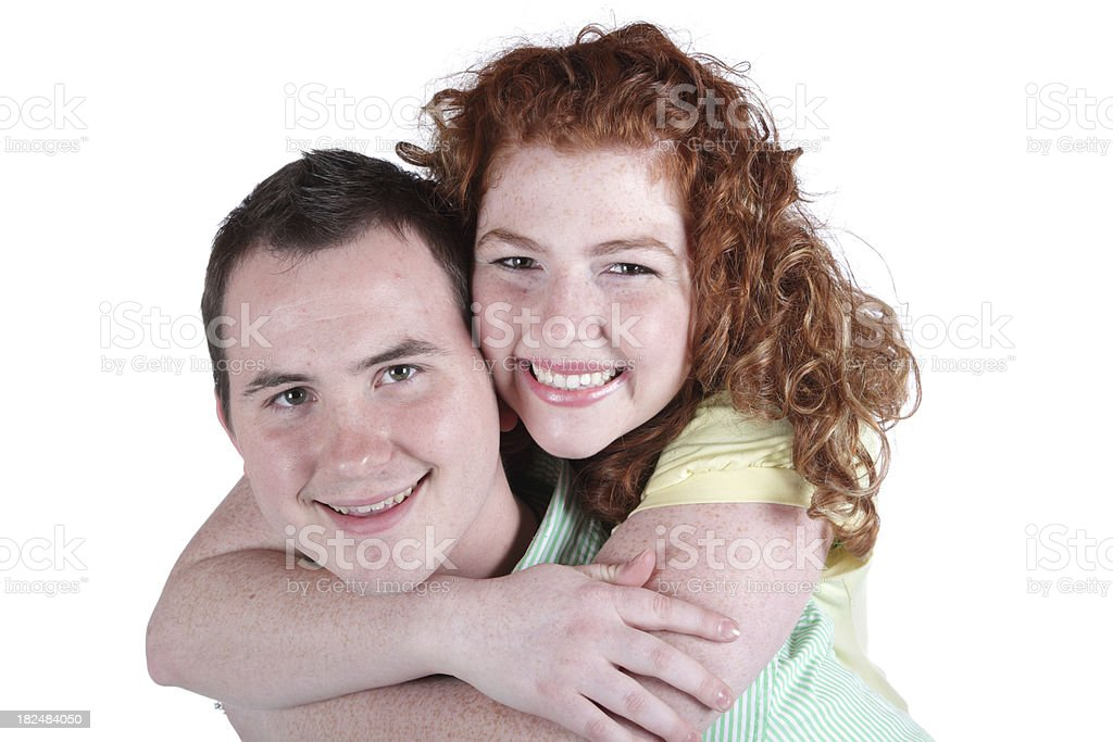 Young Couple Arms Around Neck stock photo
