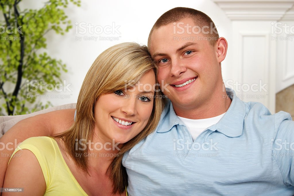 Young Couple At Home royalty-free stock photo