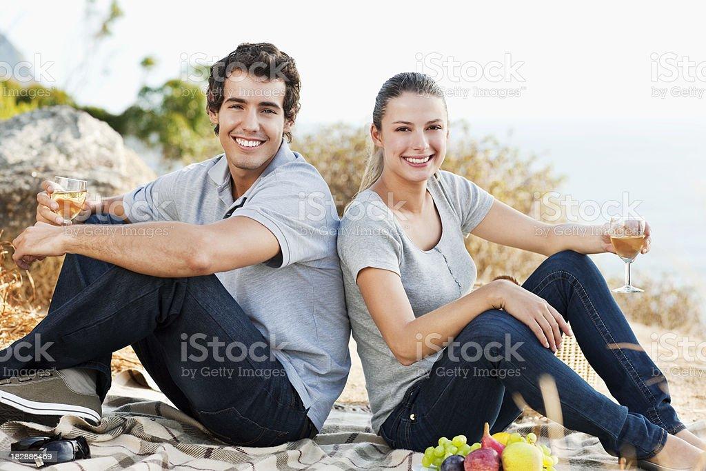 Young Couple at Picnic royalty-free stock photo