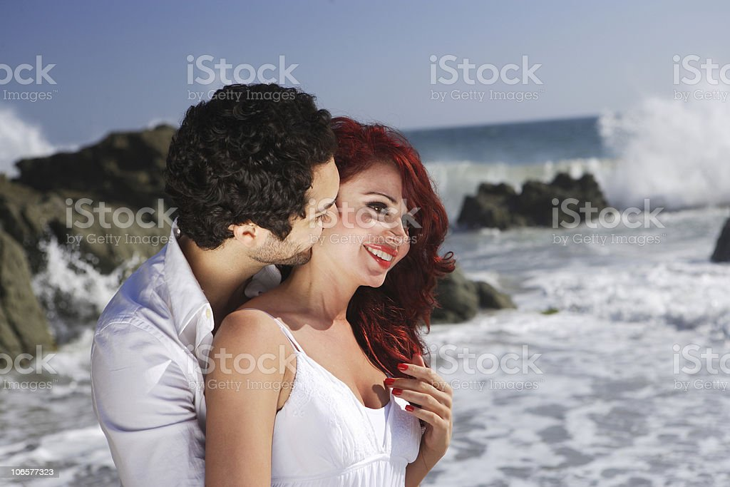Young Couple at the beach royalty-free stock photo
