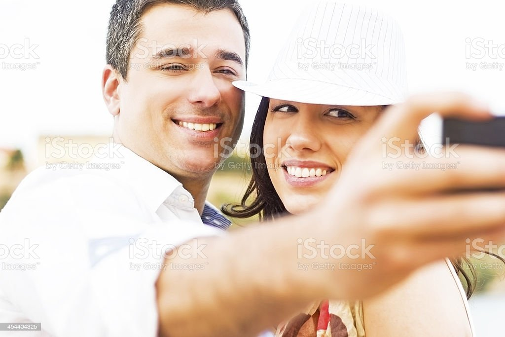 Young couple at the quey. royalty-free stock photo