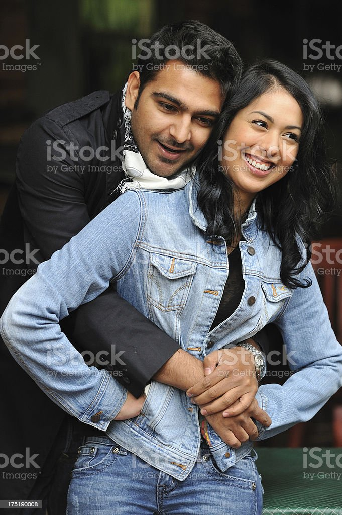 Young couple being playful with each other royalty-free stock photo