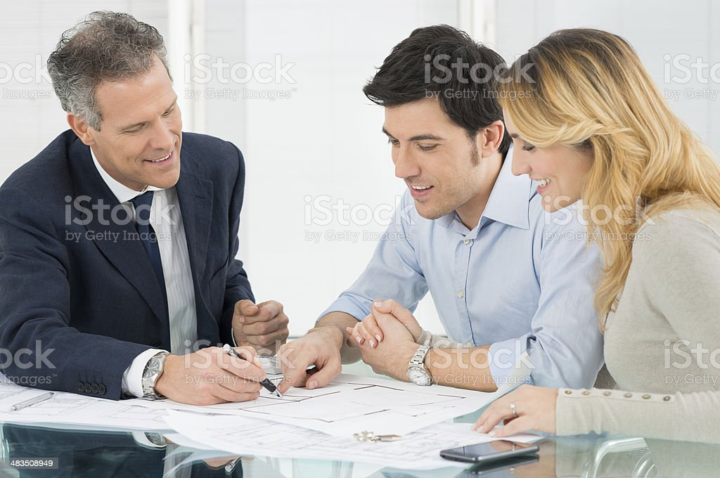Young Couple Buying A New House stock photo