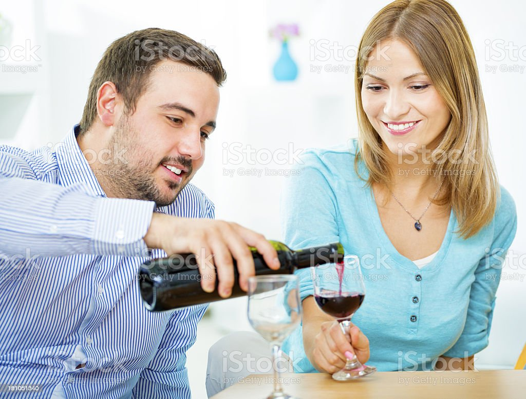 Young Couple Celebrating Anniversary. royalty-free stock photo