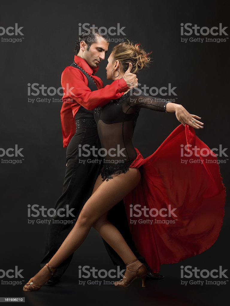 Young couple dancing stock photo