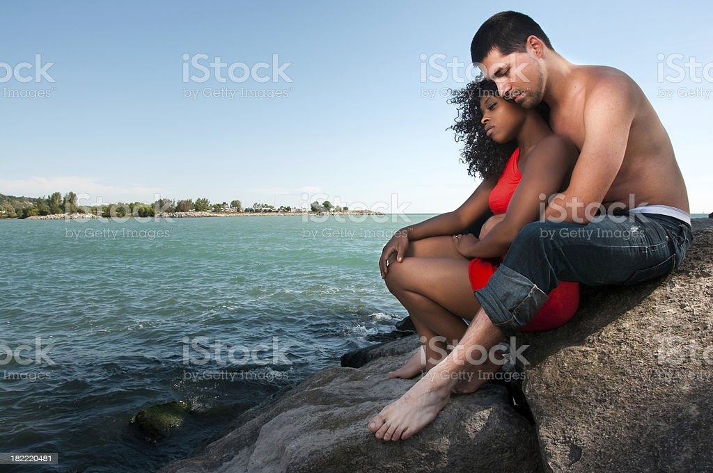 Young couple embracing. royalty-free stock photo