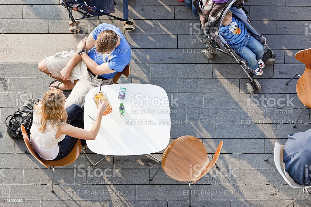 Young couple enjoying a drink royalty-free stock photo