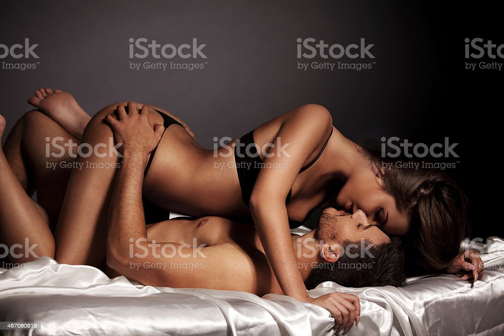 Young couple enjoying in their love stock photo