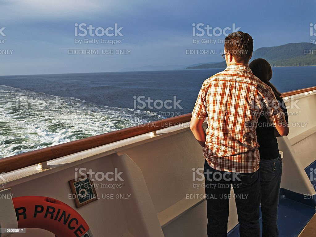 Young Couple Enjoying the View stock photo
