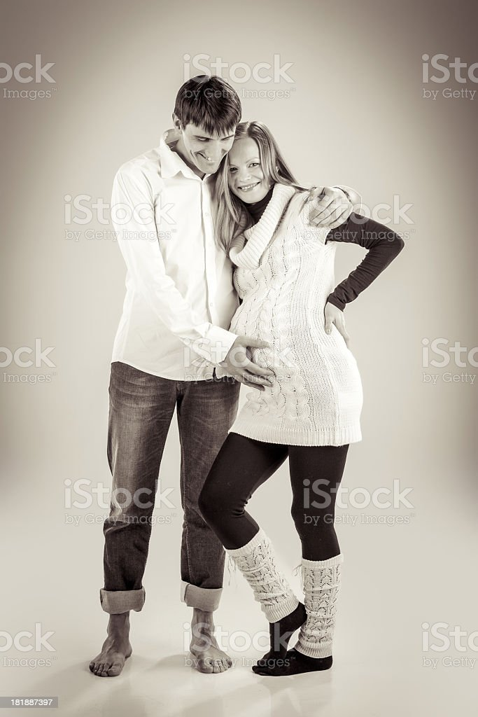 Young couple expecting baby royalty-free stock photo