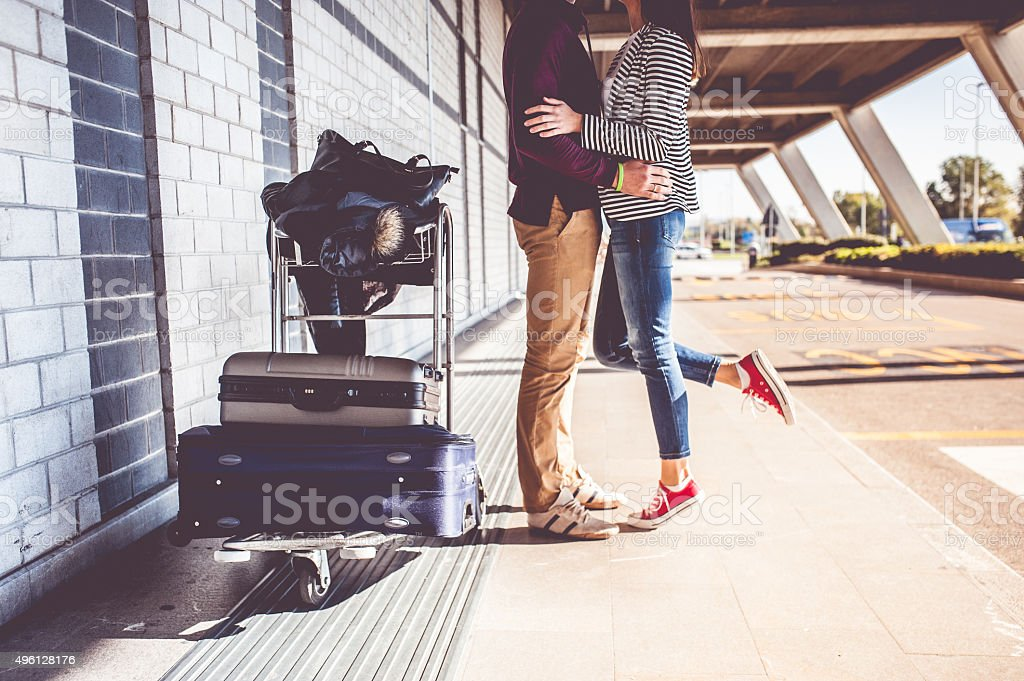 Young Couple Exploring the City stock photo