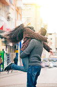 Young couple hapiness